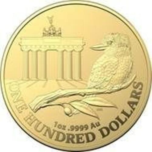 Lieferumfang:Australien : 100 Dollar WMF-Berlin - Brandenburger Tor  1 oz  in Kapsel  2020 Stgl.