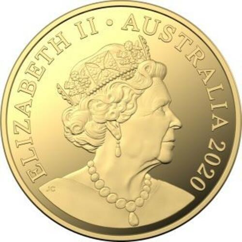 Vorderseite:Australien : 100 Dollar WMF-Berlin - Brandenburger Tor  1 oz  in Kapsel  2020 Stgl.