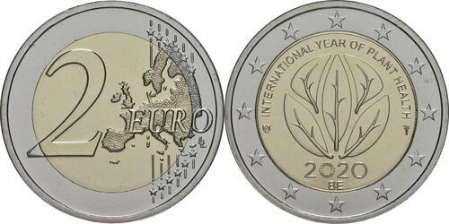 Lieferumfang:Belgien : 2 Euro Internationales Jahr der Pflanzengesundheit  2020 bfr