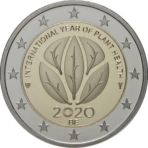 Rückseite:Belgien : 2 Euro Internationales Jahr der Pflanzengesundheit  2020 PP