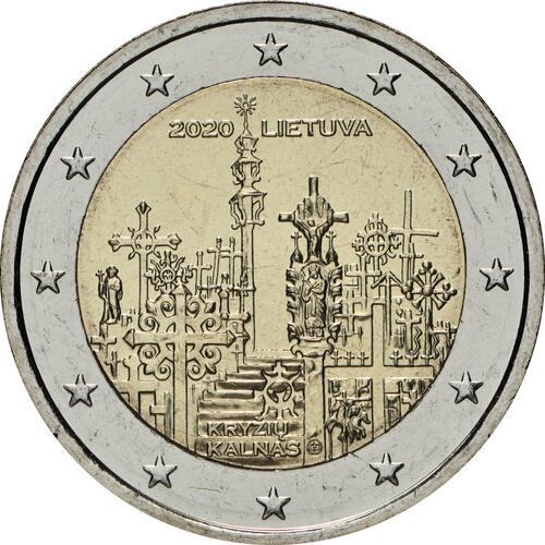 Rückseite:Litauen : 2 Euro Berg der Kreuze  2020 bfr