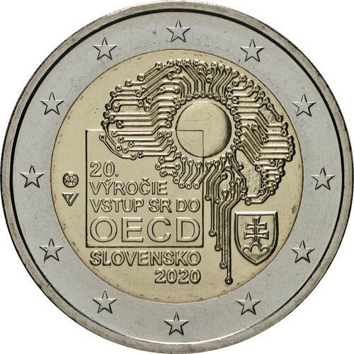 Rückseite:Slowakei : 2 Euro 20. Jahrestag des Beitritts zur OECD  2020 bfr