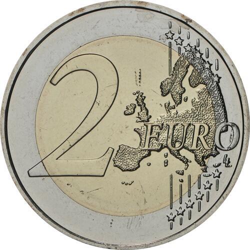 Vorderseite:Slowenien : 2 Euro 500. Geburtstag von Adam Bohoric  2020 bfr