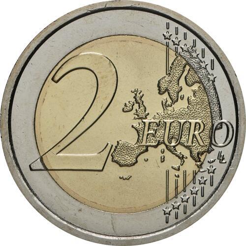 Vorderseite:Vatikan : 2 Euro 100. Geburtstag von Johannes Paul II.  2020 Stgl.