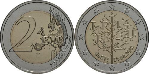 Lieferumfang:Estland : 2 Euro 100 Jahre Friedensvertrag von Tartu  2020 bfr