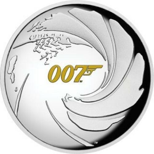 Vorderseite:Tuvalu : 1 Dollar James Bond Highrelief  2020 PP