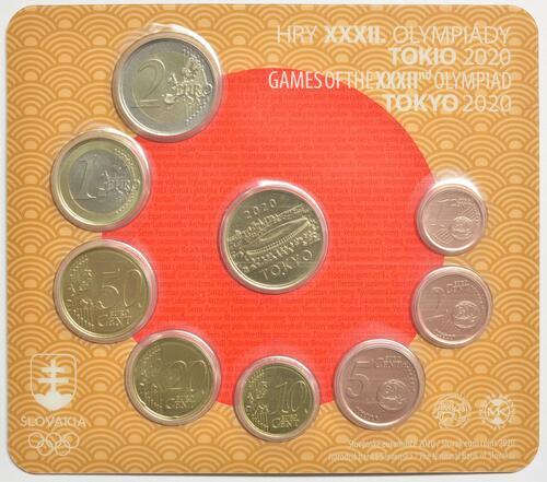 Vorderseite:Slowakei : 3,88 Euro KMS Slowakei Sommerolympiade Tokio  2020 Stgl.