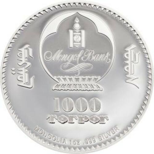Vorderseite:Mongolei : 1000 T Mahatma Gandhi  (Schwarz/Weiß-Effekt)  2020 PP