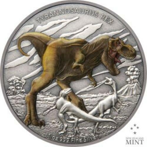 Vorderseite:Niue : 2 Dollar Dinosaurier - Tyrannosaurus Rex #1  2020 PP