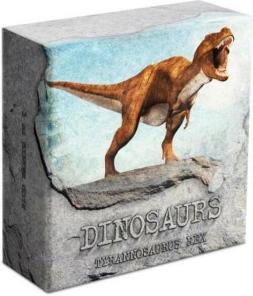 Zertifikat:Niue : 2 Dollar Dinosaurier - Tyrannosaurus Rex #1  2020 PP