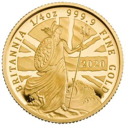 Lieferumfang:Großbritannien : 25 Pound Britannia 1/4 Oz  2020 PP