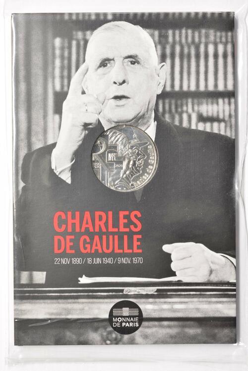 Lieferumfang:Frankreich : 10 Euro Charles de Gaulle - Persönlichkeit  2020 Stgl.