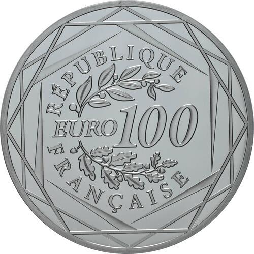 Rückseite:Frankreich : 100 Euro Charles de Gaulle  2020 Stgl.