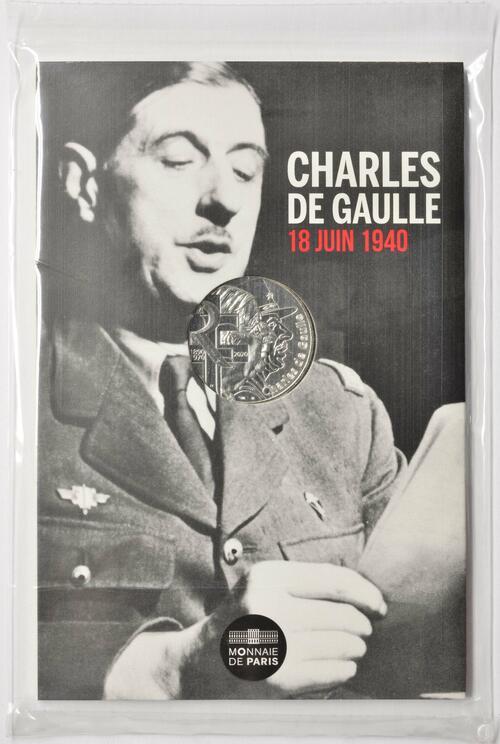 Lieferumfang:Frankreich : 10 Euro Charles de Gaulle - Appell am 18. Juni 1940  2020 Stgl.