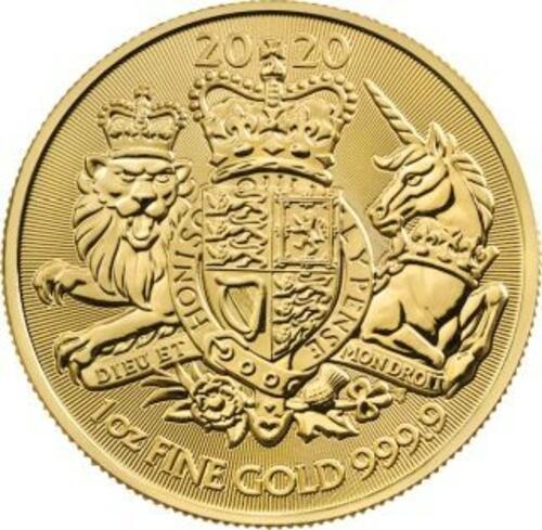 Lieferumfang:Großbritannien : 100 Pfund Royal Arms   1 oz  2020 Stgl.