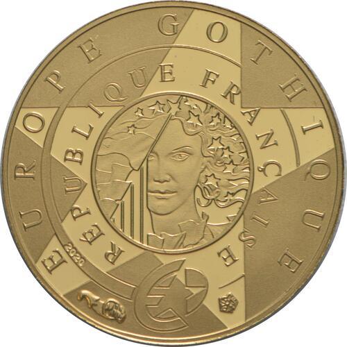 Rückseite:Frankreich : 5 Euro Gotik  2020 PP