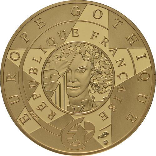 Rückseite:Frankreich : 50 Euro Gotik  2020 PP