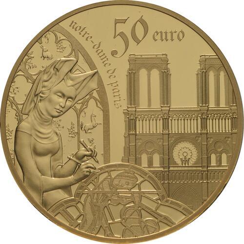 Vorderseite:Frankreich : 50 Euro Gotik  2020 PP