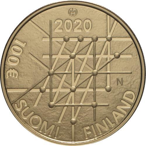 Rückseite:Finnland : 100 Euro 100 Jahre Universität Turku - nummeriert  2020 PP