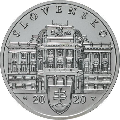 Vorderseite:Slowakei : 10 Euro 100 Jahre Slowakisches Nationaltheater  2020 Stgl.