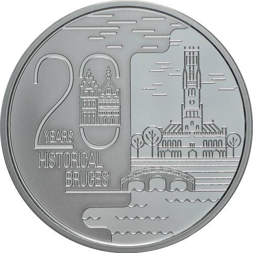 Vorderseite:Belgien : 20 Euro Historisches Stadtzentrum von Brügge  UNESCO  2020 PP
