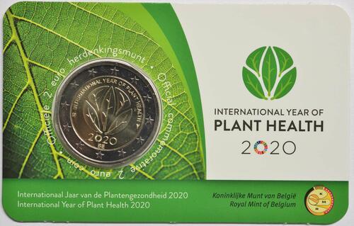 Lieferumfang:Belgien : 2 Euro Internationales Jahr der Pflanzengesundheit  2020 Stgl.