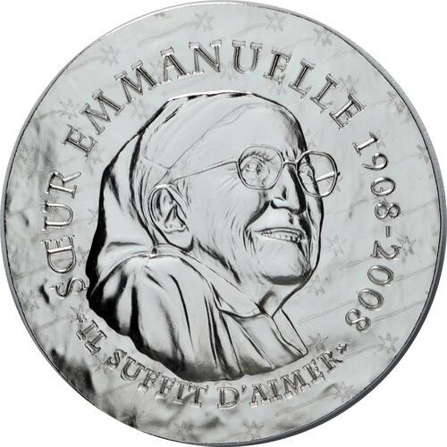 Vorderseite:Frankreich : 10 Euro Schwester Emmanuelle  2020 PP