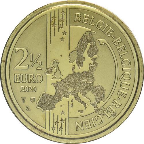 Rückseite:Belgien : 2,5 Euro 100 Jahre Olympische Spiele Antwerpen  2020 Stgl.
