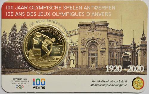 Lieferumfang:Belgien : 2,5 Euro 100 Jahre Olympische Spiele Antwerpen  2020 Stgl.