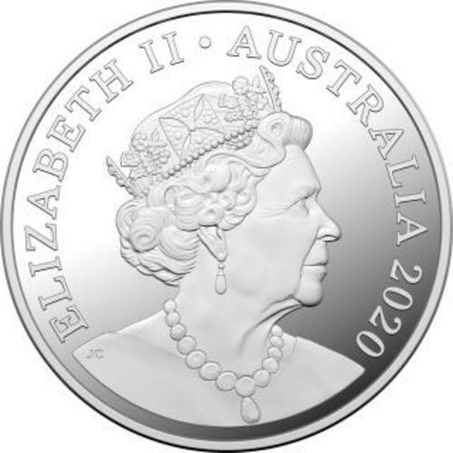 Rückseite:Australien : 1 Dollar Känguruh-RAM - im Etui  2020 PP