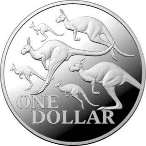 Vorderseite:Australien : 1 Dollar Känguruh-RAM - im Etui  2020 PP