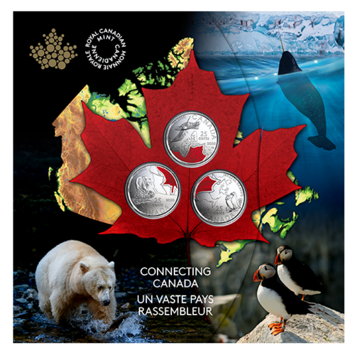 Lieferumfang:Kanada : 3x25 Cent Connecting Canada Set - im Blister  2020 Stgl.