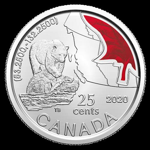 Vorderseite:Kanada : 3x25 Cent Connecting Canada Set - im Blister  2020 Stgl.