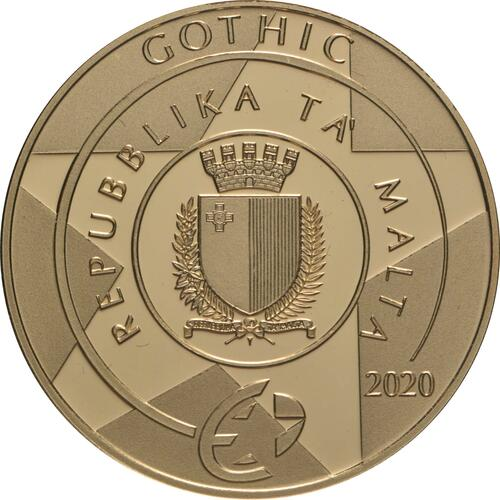 Rückseite:Malta : 50 Euro Gotik  2020 PP