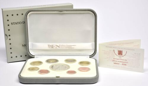 Lieferumfang:Vatikan : 23,88 Euro KMS Vatikan mit 20 Euro Gedenkmünze  2020 PP