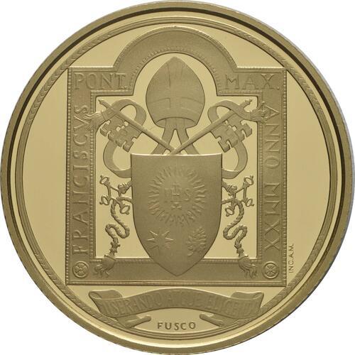 Rückseite:Vatikan : 53,88 Euro KMS Vatikan mit 50 Euro Gedenkmünze  2020 PP