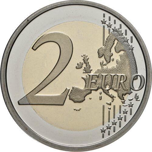 Vorderseite:Vatikan : 2 Euro 100. Geburtstag von Johannes Paul II.  2020 PP