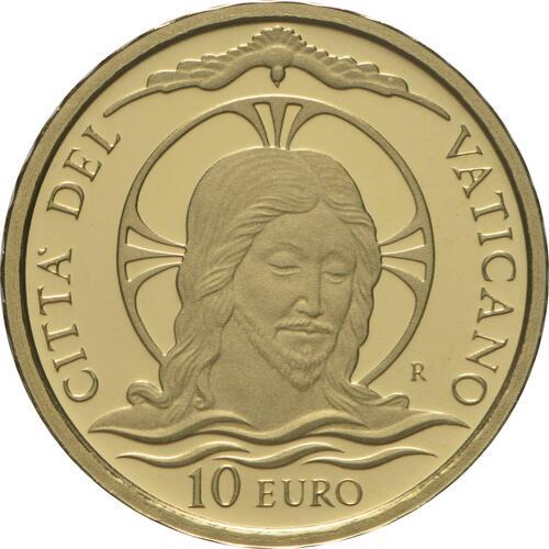 Vorderseite:Vatikan : 10 Euro Taufe  2020 PP