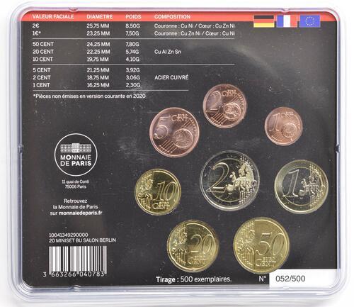 Zertifikat:Frankreich : 3,88 Euro KMS Frankreich WMF Berlin 2020  2020 Stgl.