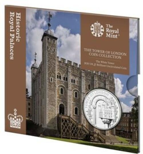 Lieferumfang:Großbritannien : 5 Pfund Tower von London - White Tower  2020 Stgl.