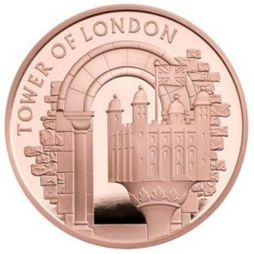 Vorderseite:Großbritannien : 5 Pfund Tower von London - White Tower 1 oz  2020 PP