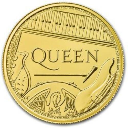 Lieferumfang:Großbritannien : 100 Pfund Queen - Rocklegenden - Bullion 1 oz  2020 Stgl.