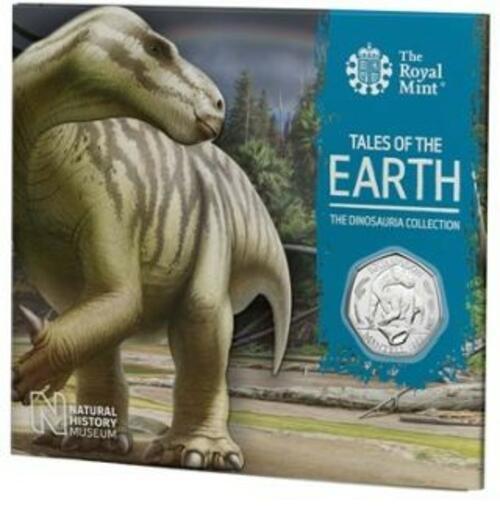Lieferumfang:Großbritannien : 50 Pc Dinosaurier Kollektion - Iguanodon  Blister  2020 Stgl.