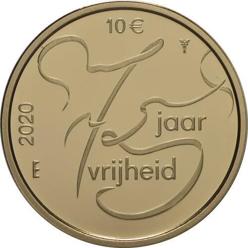 Vorderseite:Niederlande : 10 Euro 75 Jahre Ende 2. Weltkrieg  2020 PP