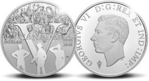 Zertifikat:Niederlande : 5 Euro Set aus 5 Euro NL, 1$ Kanda, 1 Pfund GB - 75 Jahre Ende 2. Weltkrieg  2020 PP