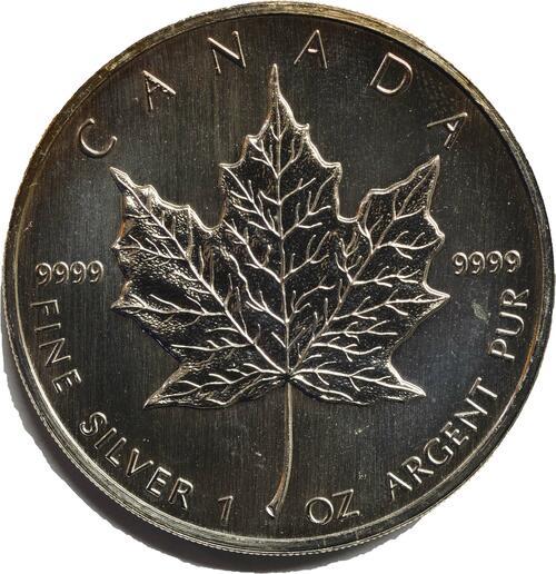 Vorderseite:Kanada : 5 Dollar Maple Leaf  1988 bfr
