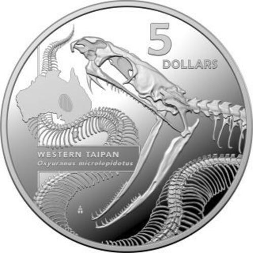 Vorderseite:Australien : 1 Dollar Western Taipan - Australias Most Dangerous  2020 PP