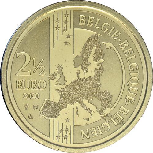 Rückseite:Belgien : 2,5 Euro 75 Jahre Ende des 2. Weltkrieges FR-Version  2020 Stgl.