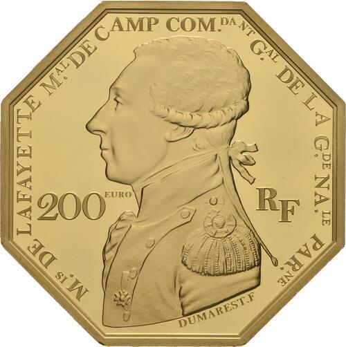 Vorderseite:Frankreich : 200 Euro La Fayette  2020 PP