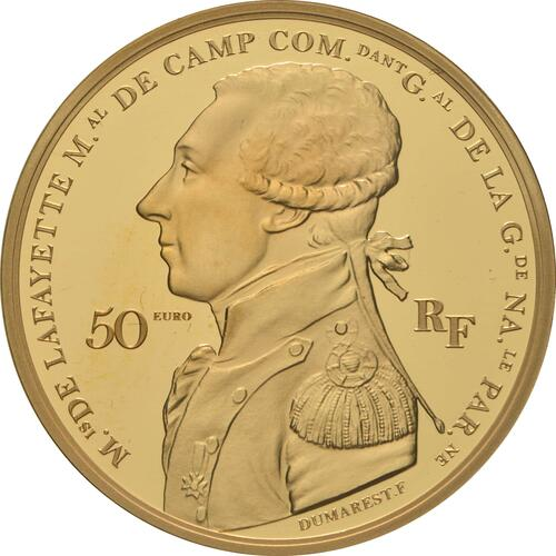 Vorderseite:Frankreich : 50 Euro La Fayette  2020 PP